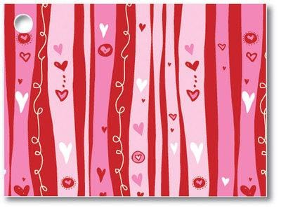 Swirly Hearts Popcorn Gift Card