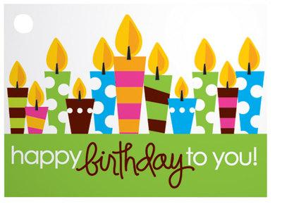 Birthday Party Popcorn Gift Card
