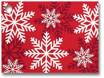 Red & White Snowflakes Popcorn Gift Card