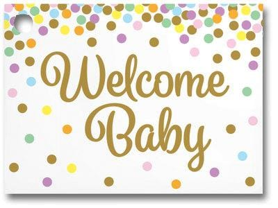 Welcome Baby Confetti Popcorn Gift Card