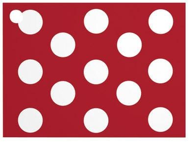 Red & White Dots Angled Popcorn Gift Card