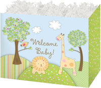 Welcome Baby - Popcorn Gift Basket