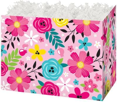 Pink Floral Popcorn Gift Basket - The Kitchen PEG Board