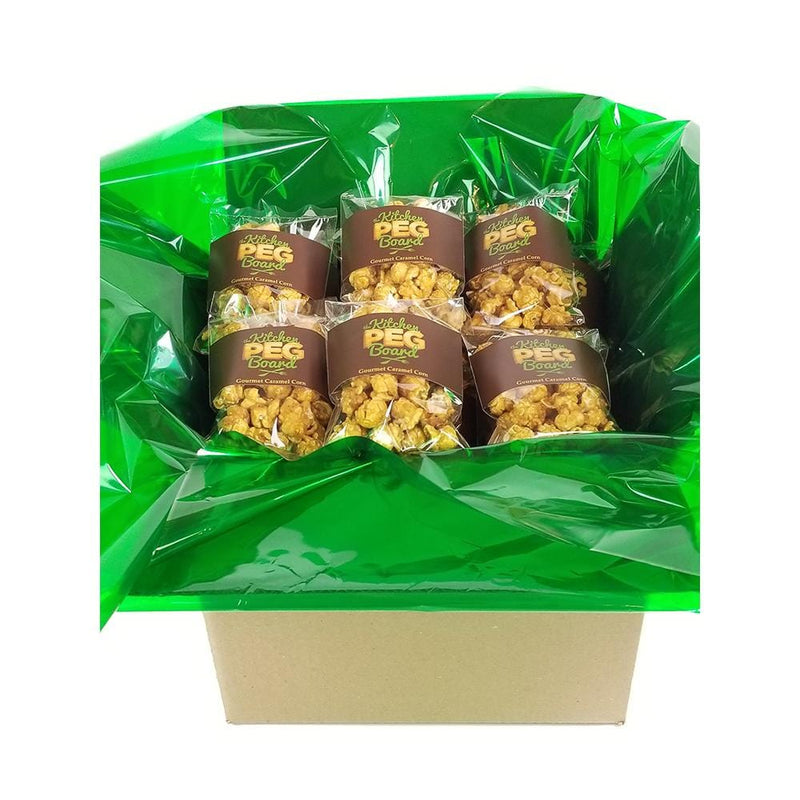 Caramel Popcorn 100 Pack - Individual Serving Size Bags - The Kitchen PEG Board
