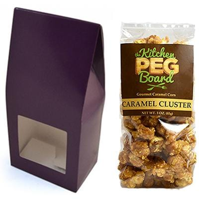 Aubergine Party Favor Popcorn Gable Treat Box