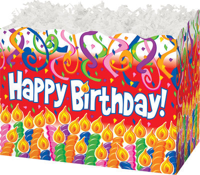 Birthday Candles Caramel Popcorn Gift Basket - The Kitchen PEG Board