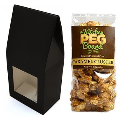 Black Party Favor Popcorn Gable Treat Box