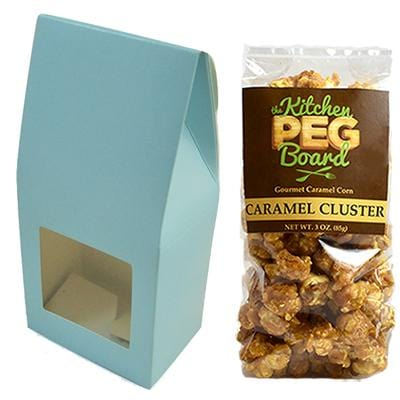 Blue Party Favor Popcorn Gable Treat Box