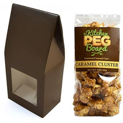 Brown Party Favor Popcorn Gable Treat Box