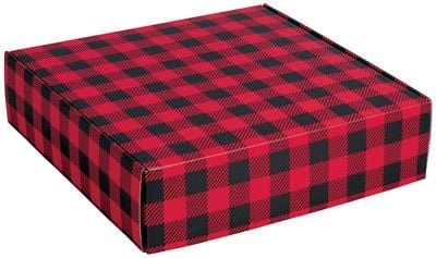 Buffalo Plaid Caramel Popcorn Gift Box