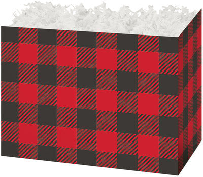 Buffalo Plaid Popcorn Gift Basket