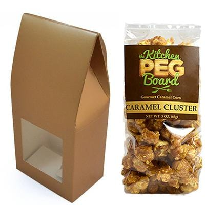 Copper Party Favor Popcorn Gable Treat Box