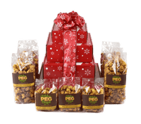 Dashing Reindeer Caramel Popcorn Gift Tower