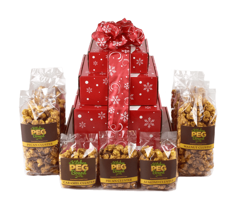 Dashing Reindeer Popcorn Gift Tower