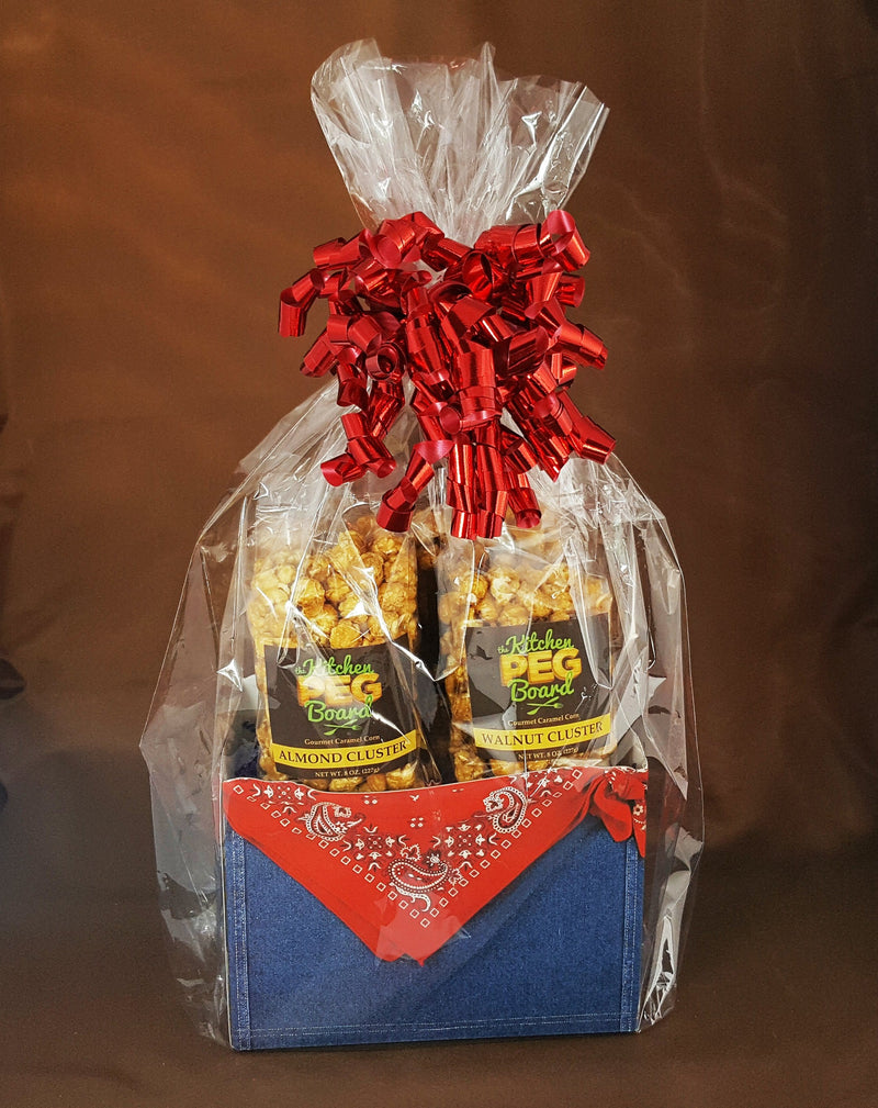 Denim Popcorn Gift Basket