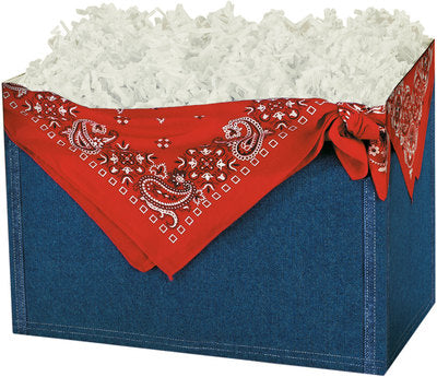 Denim Popcorn Gift Basket - The Kitchen PEG Board