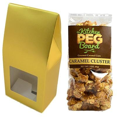 Gold Party Favor Popcorn Gable Treat Box