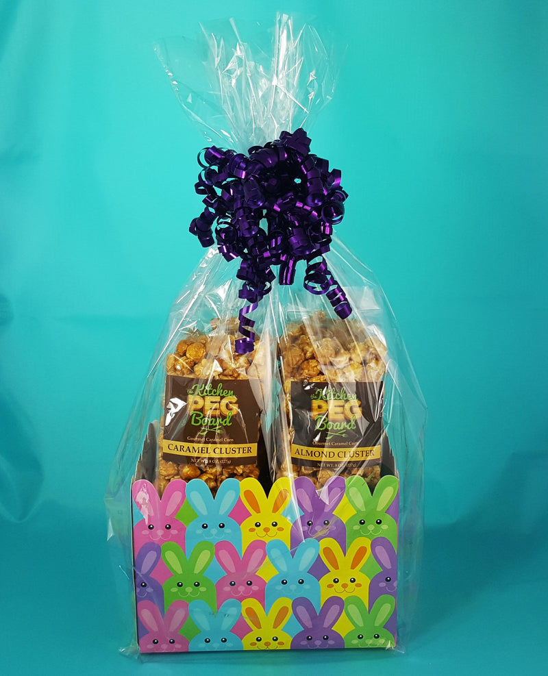 Easter Bunnies Popcorn Gift Basket - The Kitchen PEG Board