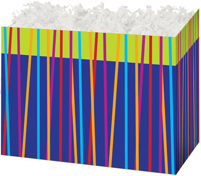 Festive Stripes Popcorn Gift Basket - The Kitchen PEG Board