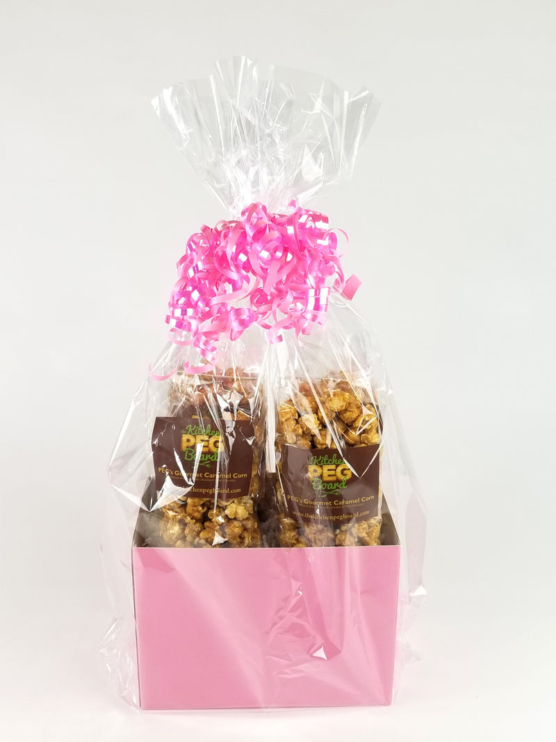 Light Pink Solid Color Popcorn Gift Basket