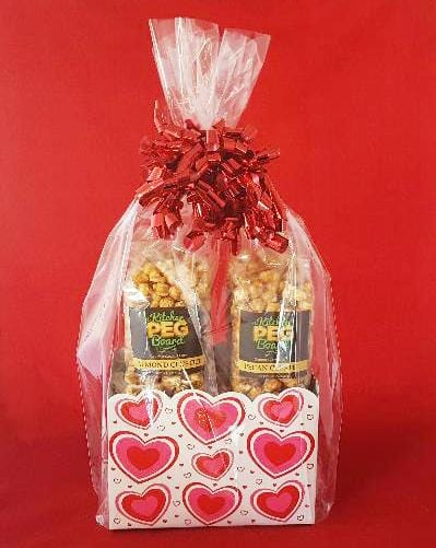 Flirty Hearts Popcorn Gift Basket