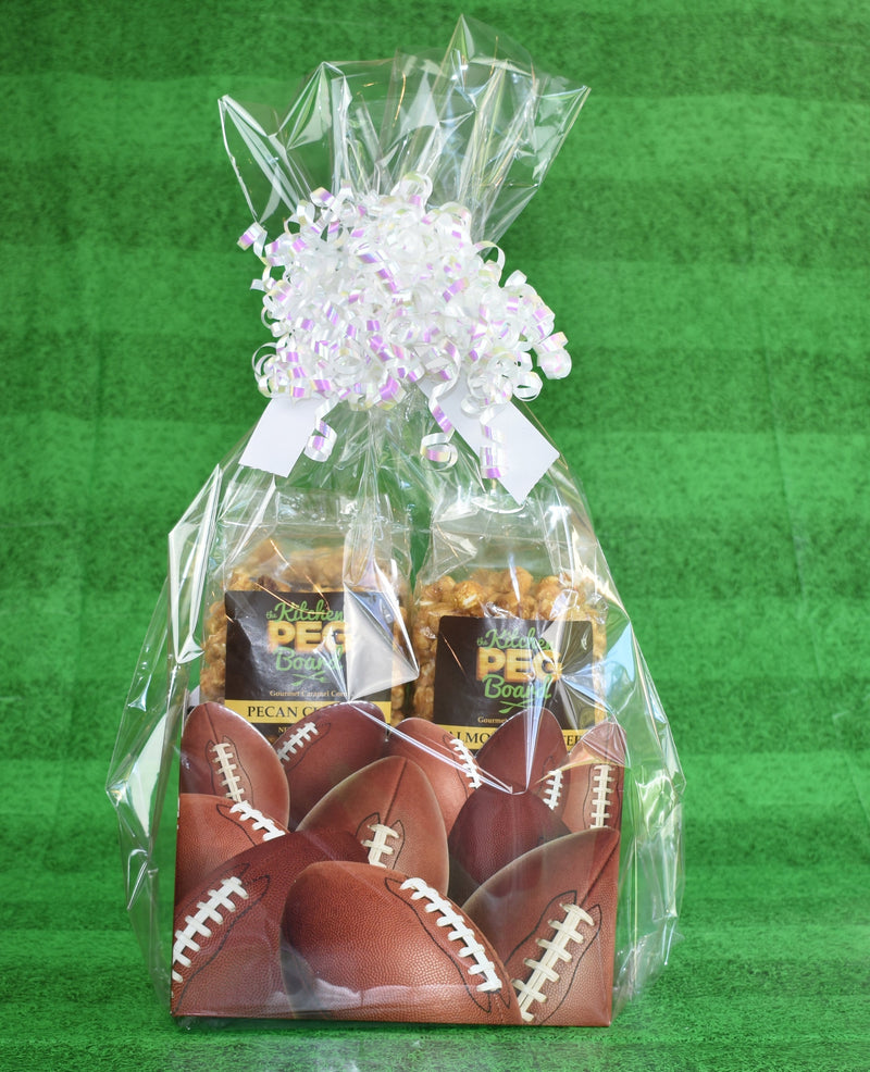 Football Popcorn Gift Basket - The Kitchen PEG Board