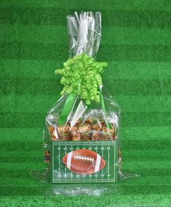 Football Caddy Snack Pack - Caramel Popcorn Gift Basket