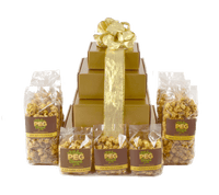 Gold Gloss Caramel Popcorn Gift Tower