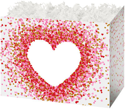 Heart Shaped Confetti Popcorn Gift Basket