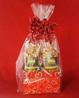 Layered Hearts Popcorn Gift Basket