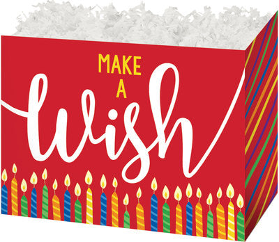 Make A Wish Candles Popcorn Gift Basket