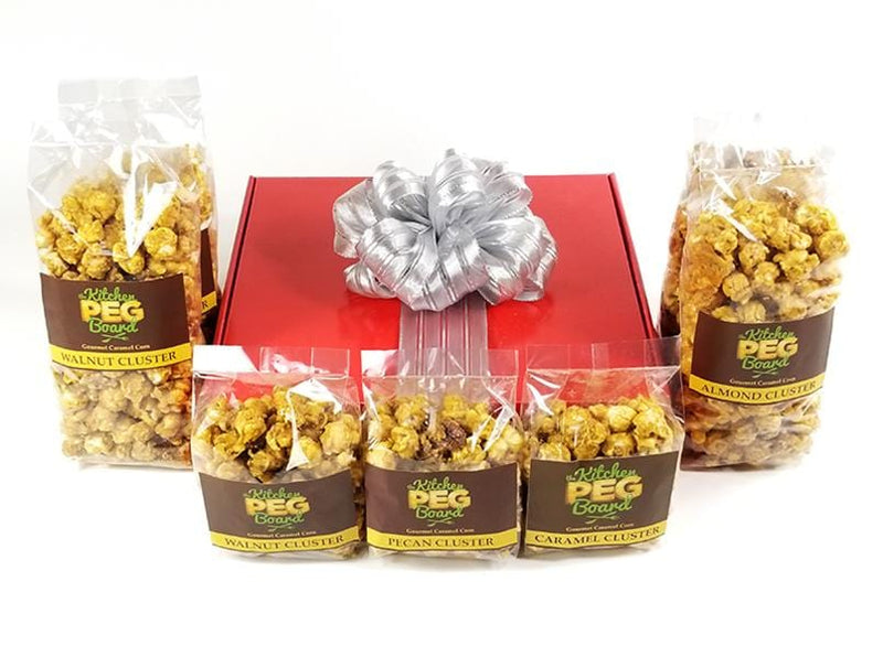Red Gloss Popcorn Gift Box - The Kitchen PEG Board