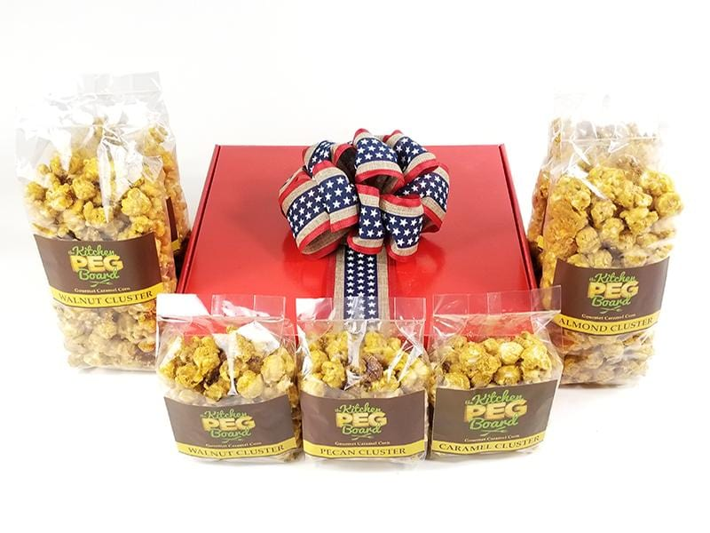 Red, White & Blue Stripes Popcorn Gift Box