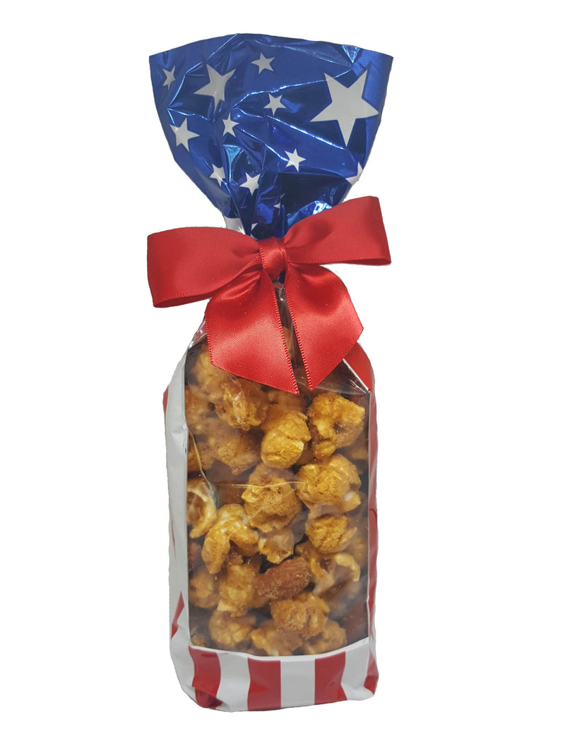 Patriotic Stars and Stripes - Caramel Popcorn Bag