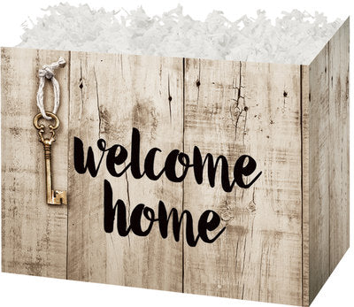 Rustic Welcome Home Popcorn Gift Basket