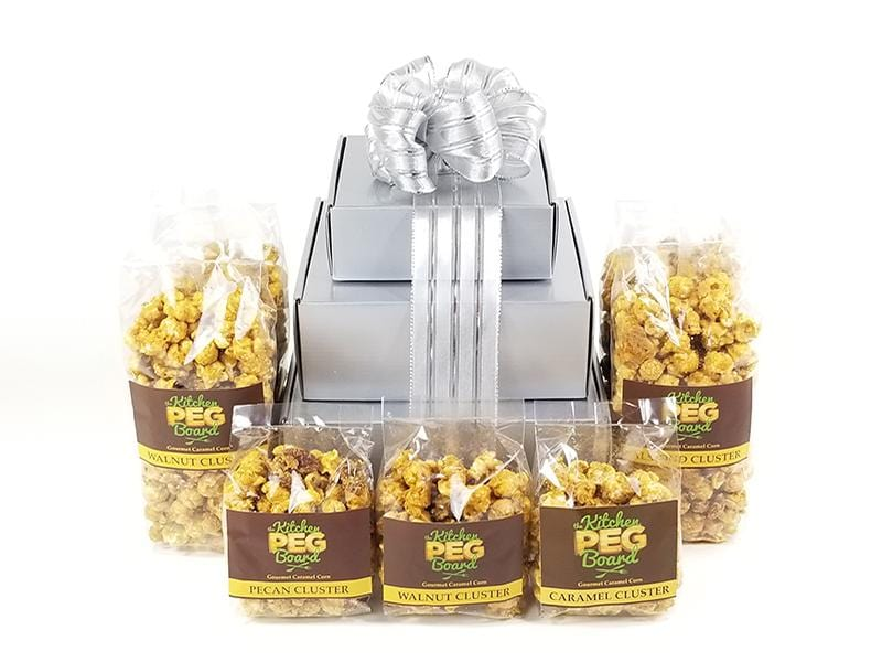 Silver Metallic Popcorn Gift Tower