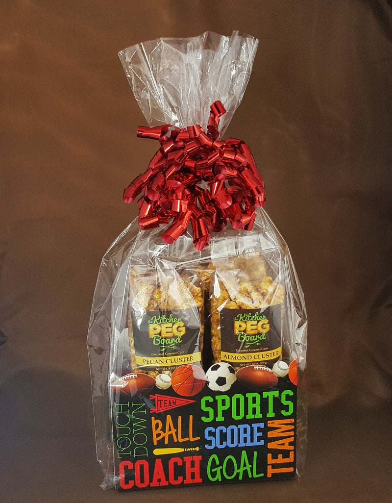 Sports Fanatic Popcorn Gift Basket