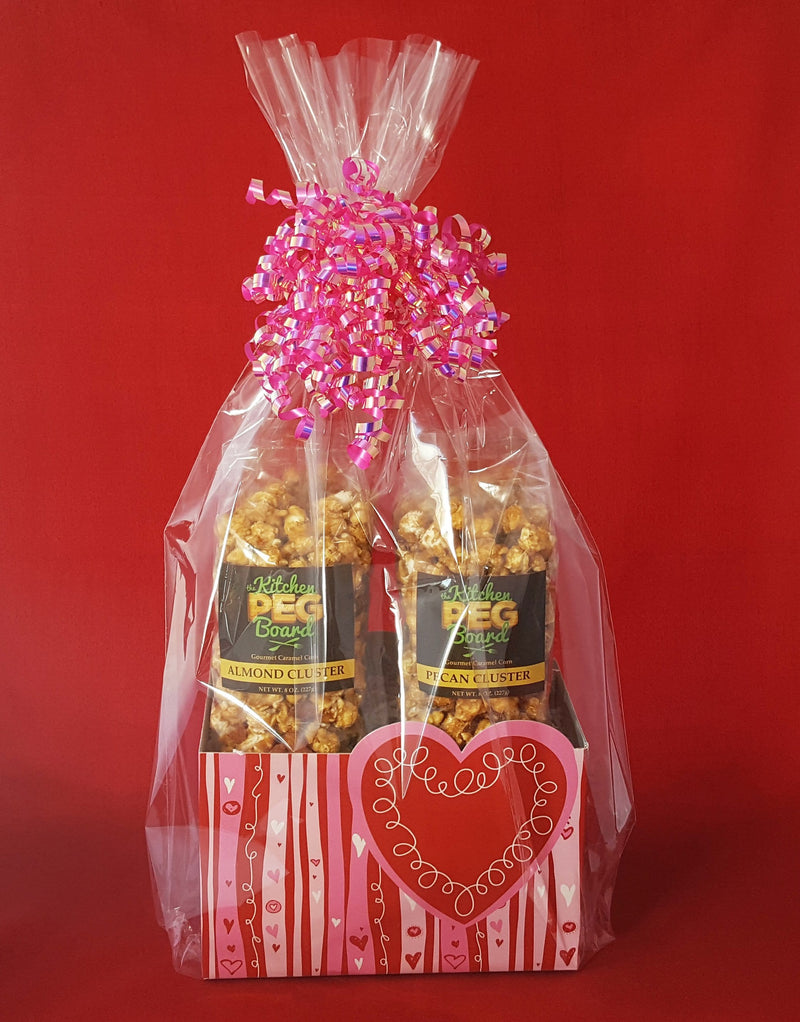 Swirly Hearts Popcorn Gift Basket