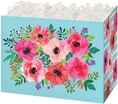 Watercolor Flowers Popcorn Gift Basket