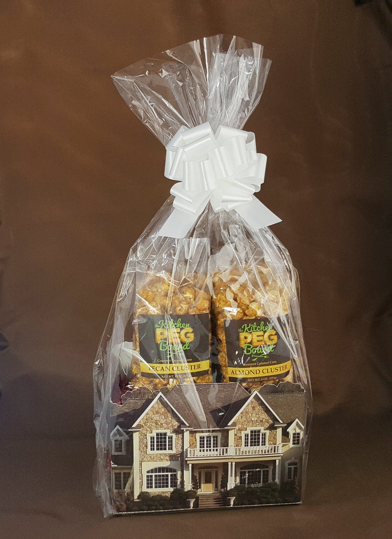 Welcome Home Estate Popcorn Gift Basket