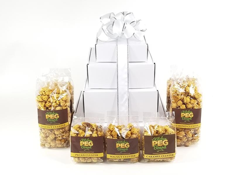 White Gloss Popcorn Gift Tower
