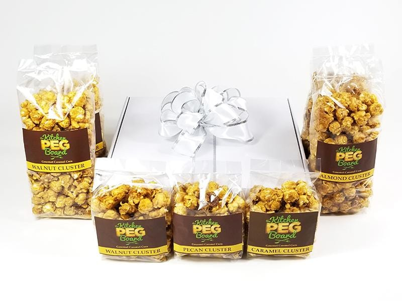 White Gloss Popcorn Gift Box