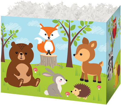 Woodland Animals Popcorn Gift Basket