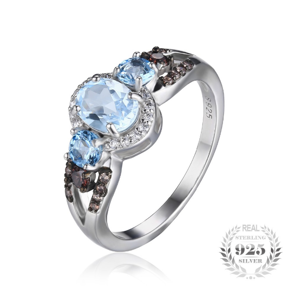 rings diamond cut sterling jewelry cushion com sky for blue and amazon dp topaz size concave women silver ring