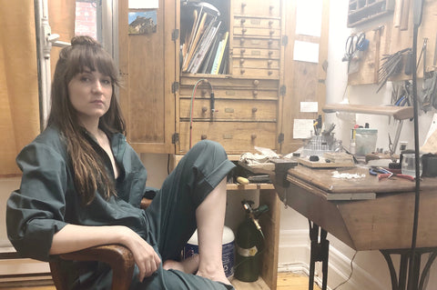 Kathryne / RYHN in her studio