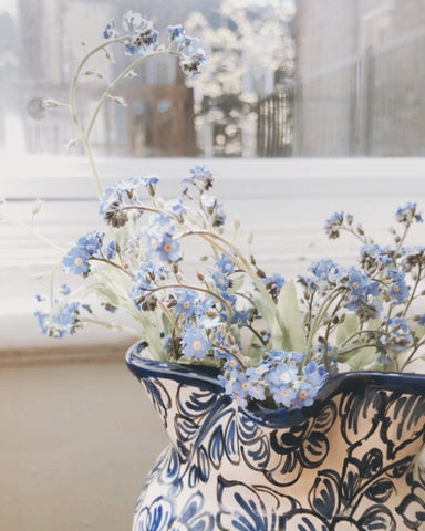 forget me nots flowers in a vase