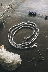 Pearl chain with sterling silver clasps