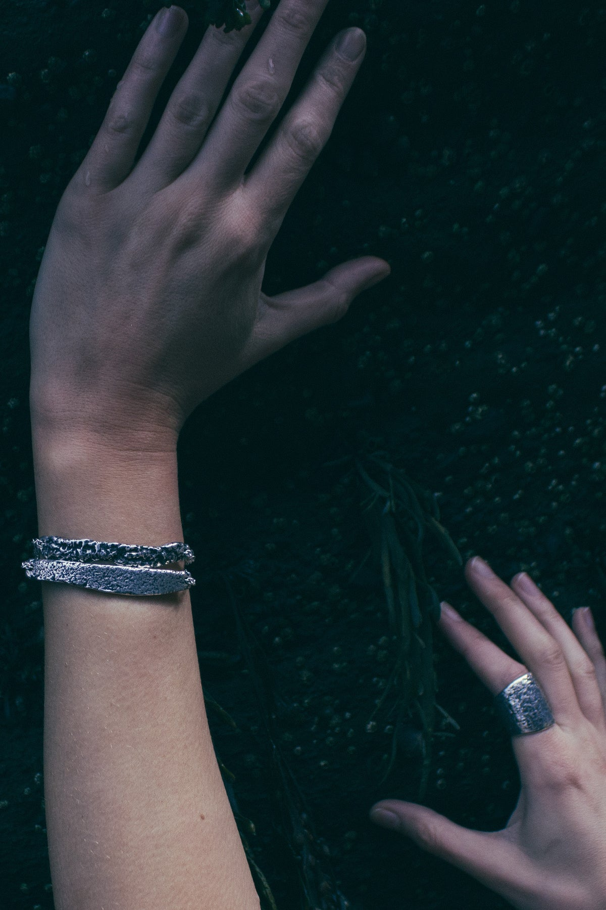 Idyll ring, Idyll bracelet and Torngat bracelet