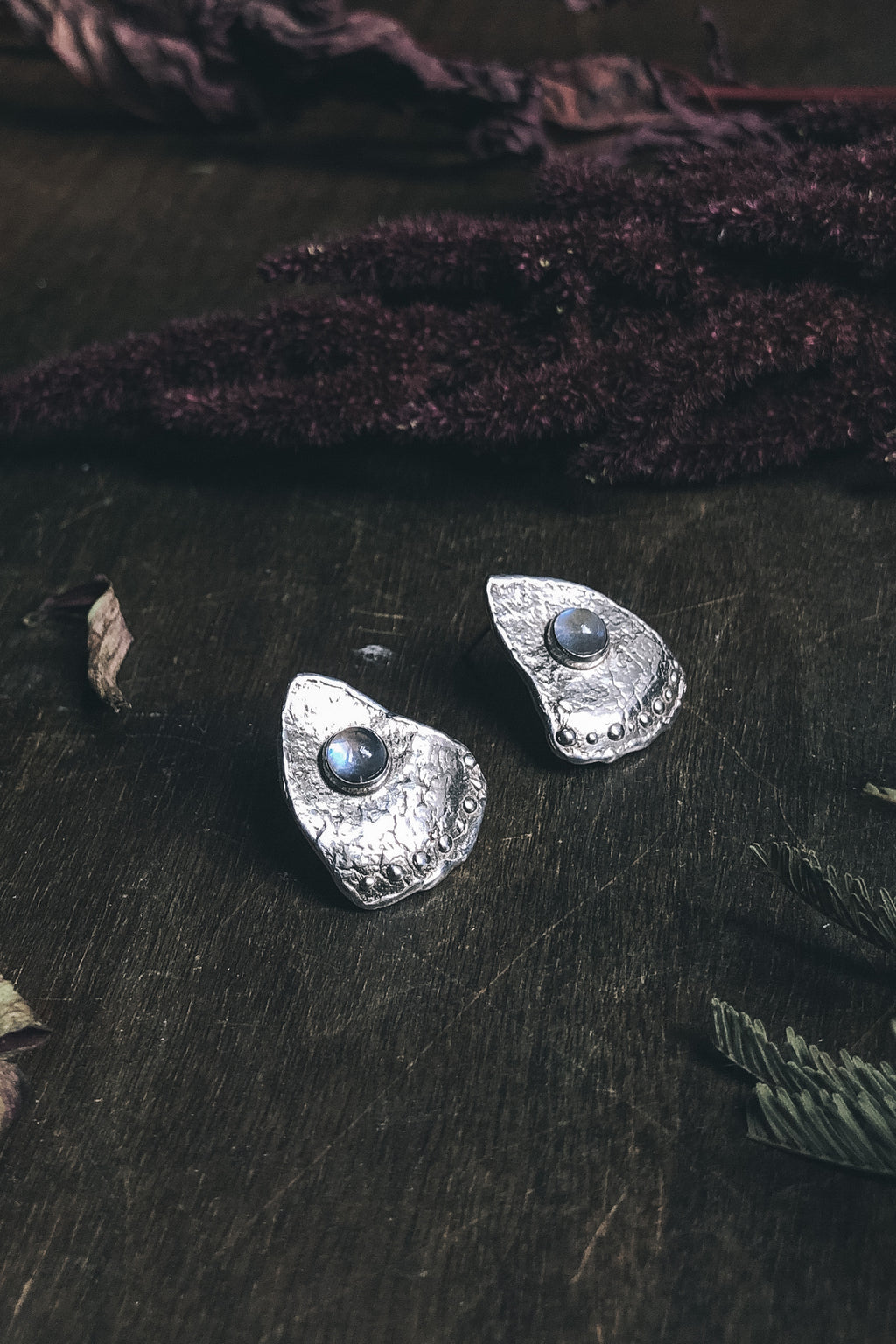 RYHN Luna Earrings with moonstone