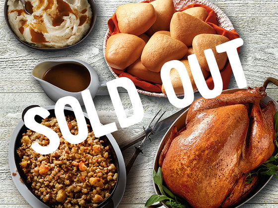 SOLD OUT Essential Whole Roasted Turkey Meal for 12